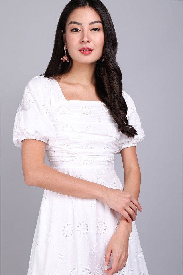 [BO] Sing A Song Of Spring Dress In Classic White